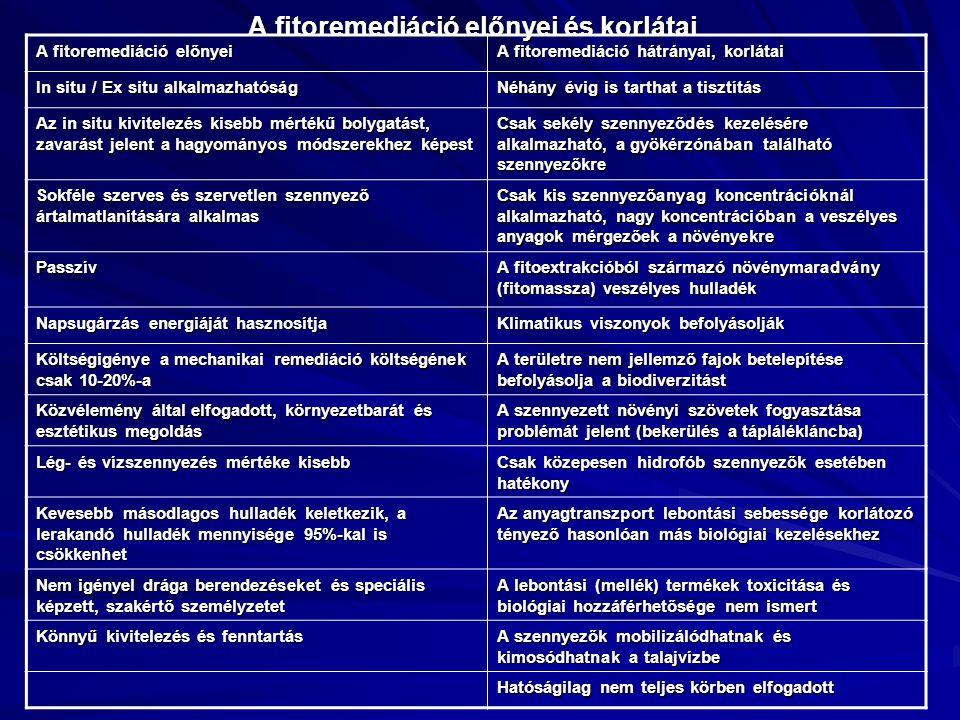 A fitoremediáció előnyei és korlátai