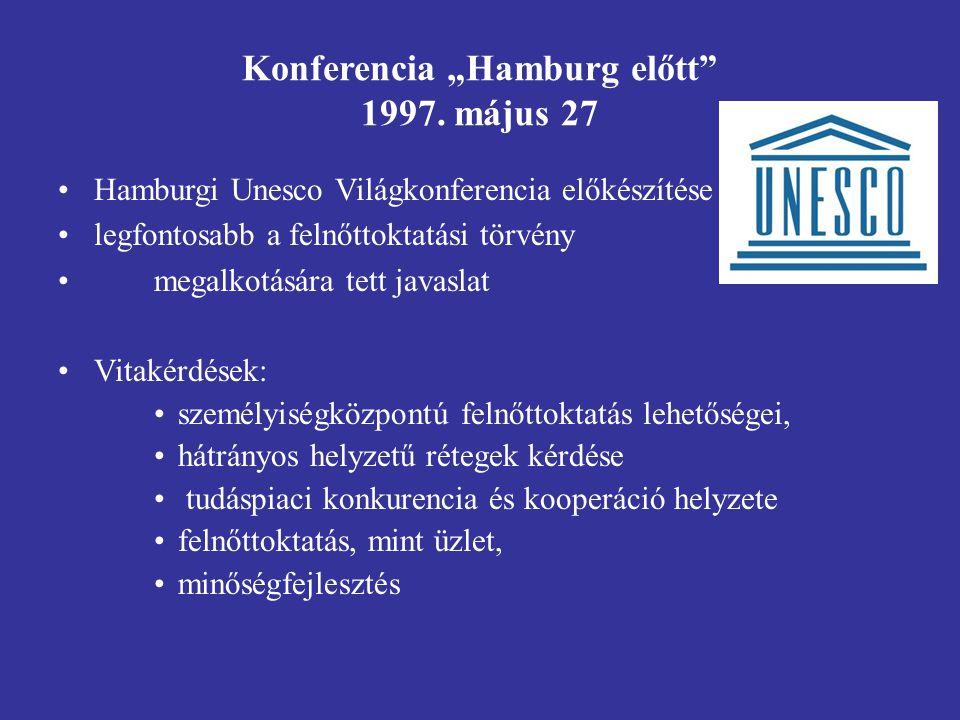 """Konferencia """"Hamburg előtt 1997. május 27"""