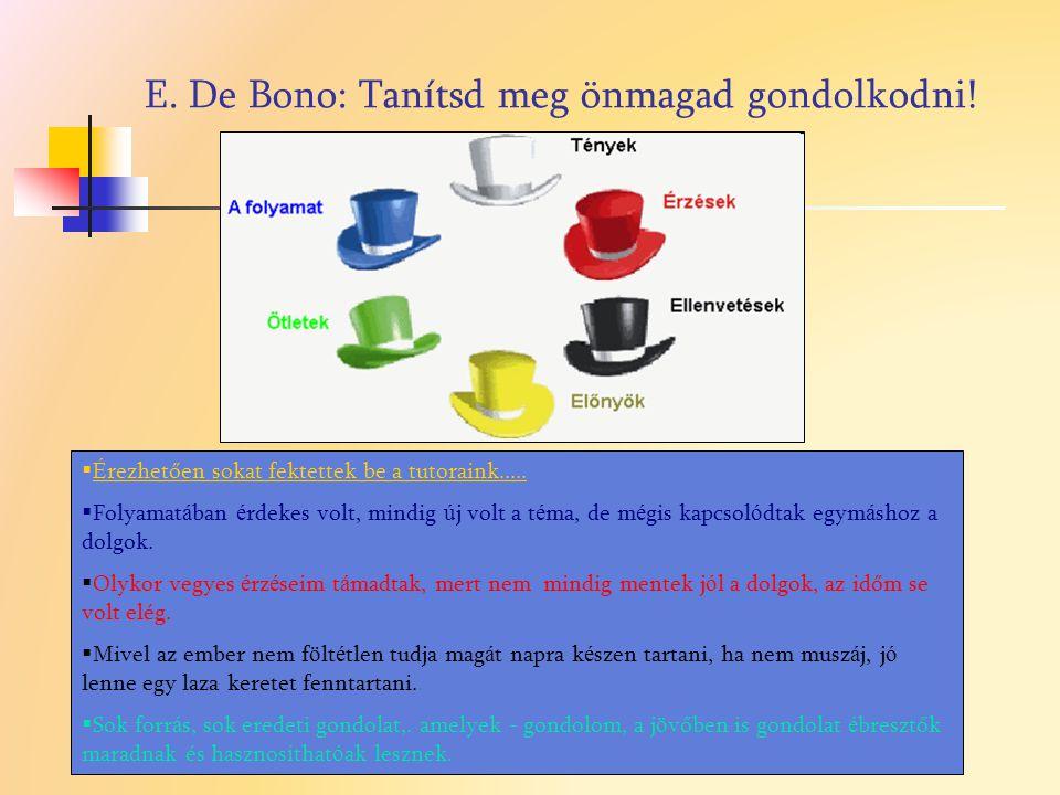 E. De Bono: Tanítsd meg önmagad gondolkodni!