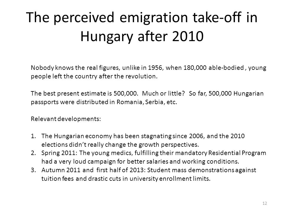 The perceived emigration take-off in Hungary after 2010