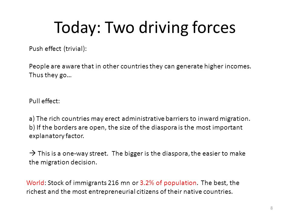 Today: Two driving forces
