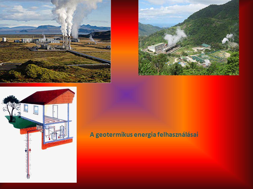 A geotermikus energia felhasználásai