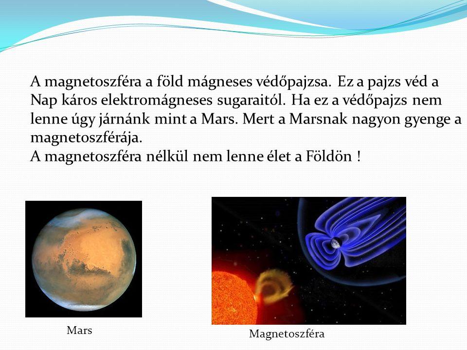A magnetoszféra nélkül nem lenne élet a Földön !