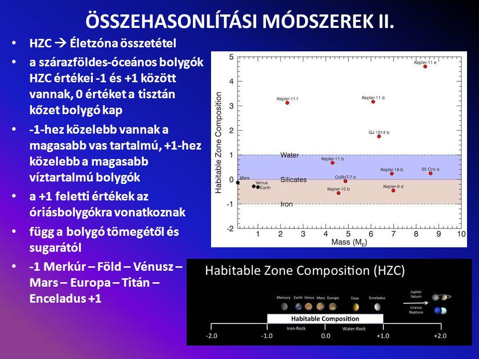 ÖSSZEHASONLÍTÁSI MÓDSZEREK II.