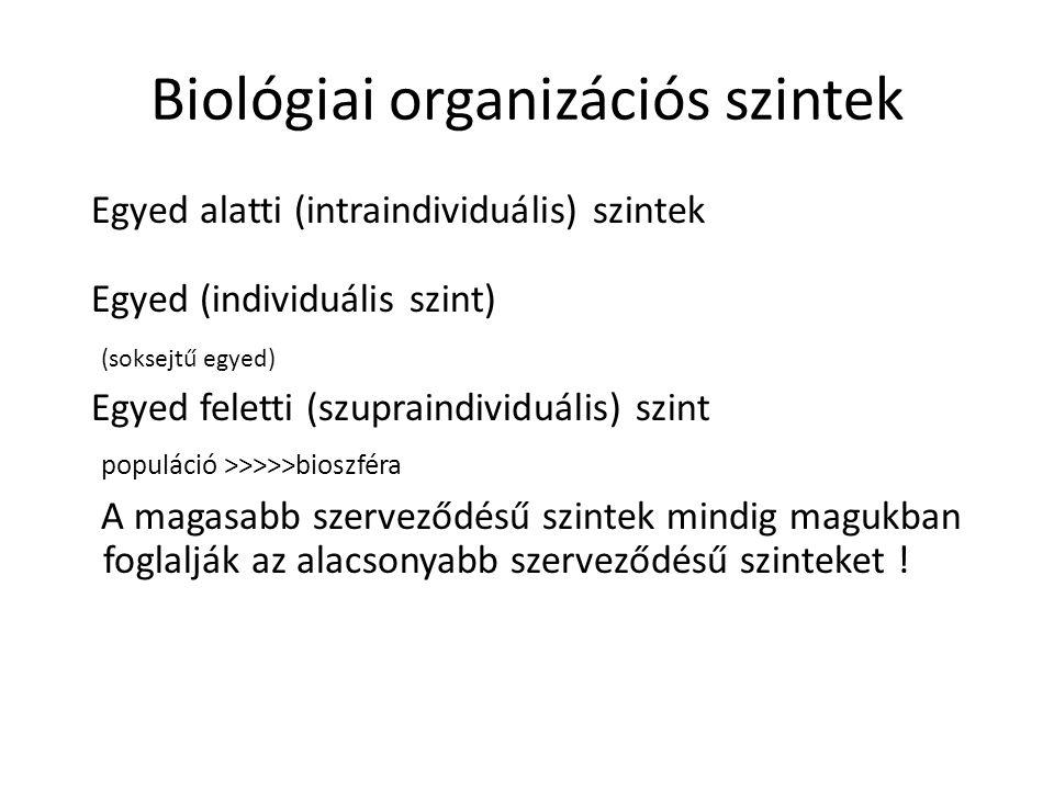 Biológiai organizációs szintek