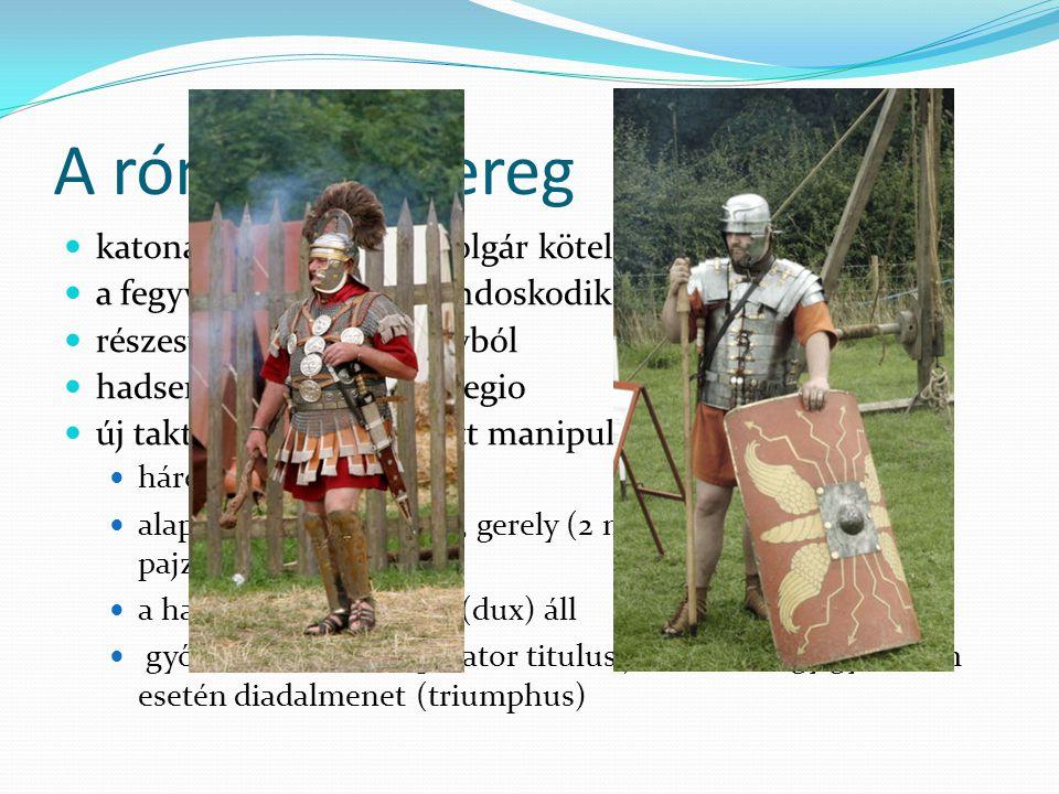 A római hadsereg katonáskodás a római polgár kötelessége