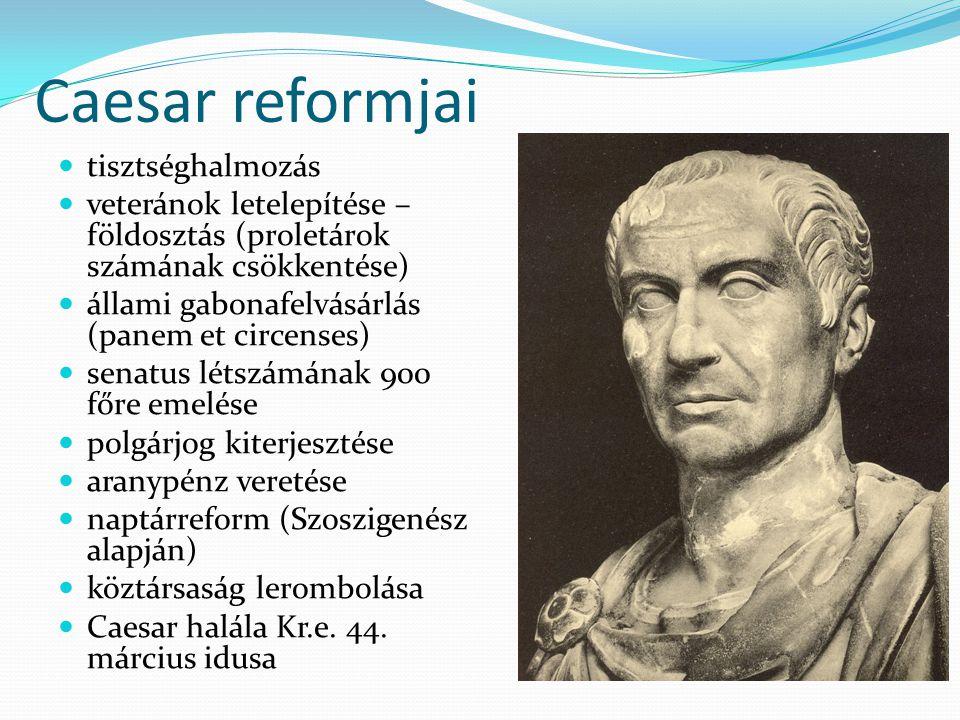 Caesar reformjai tisztséghalmozás