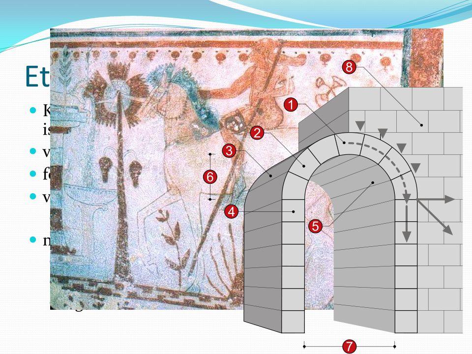 Etruszkok Kr.e. IX. századtól Itália északi részén telepednek meg, ismeretlen eredetűek (nincs nyelvrokonság)