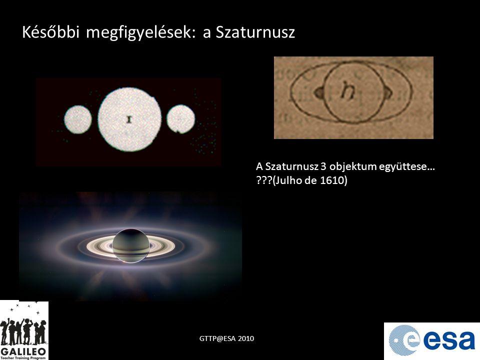 Későbbi megfigyelések: a Szaturnusz