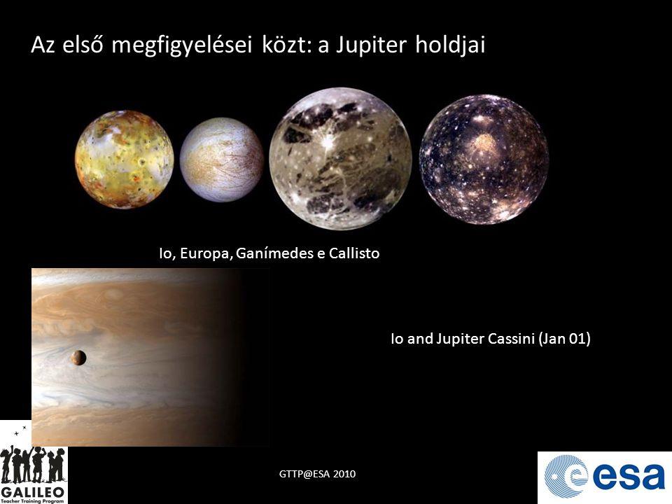 Az első megfigyelései közt: a Jupiter holdjai