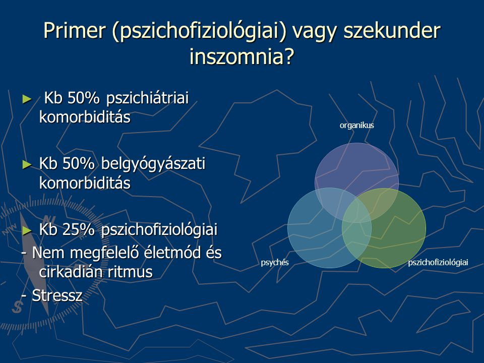 Primer (pszichofiziológiai) vagy szekunder inszomnia