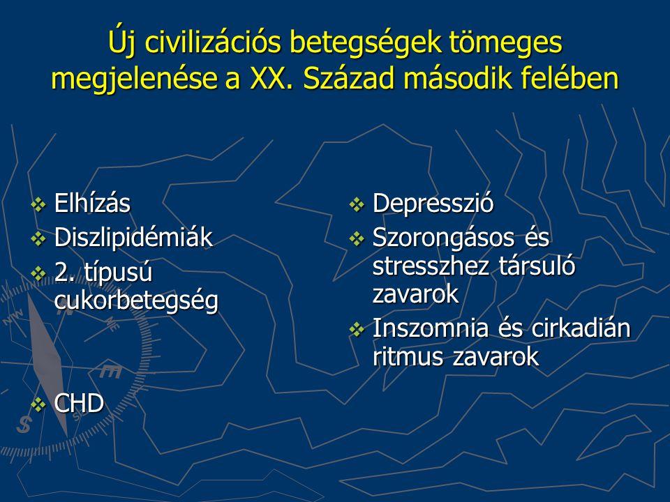 Új civilizációs betegségek tömeges megjelenése a XX