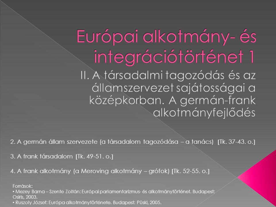 Európai alkotmány- és integrációtörténet 1