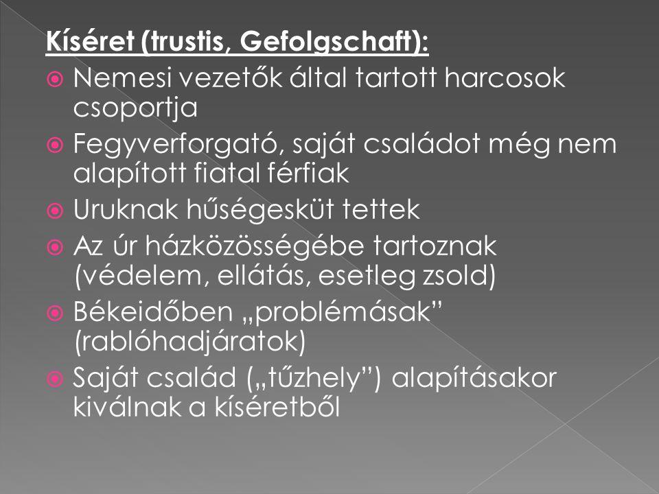 Kíséret (trustis, Gefolgschaft):