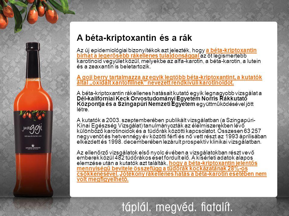 A béta-kriptoxantin és a rák