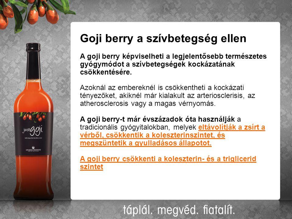 Goji berry a szívbetegség ellen