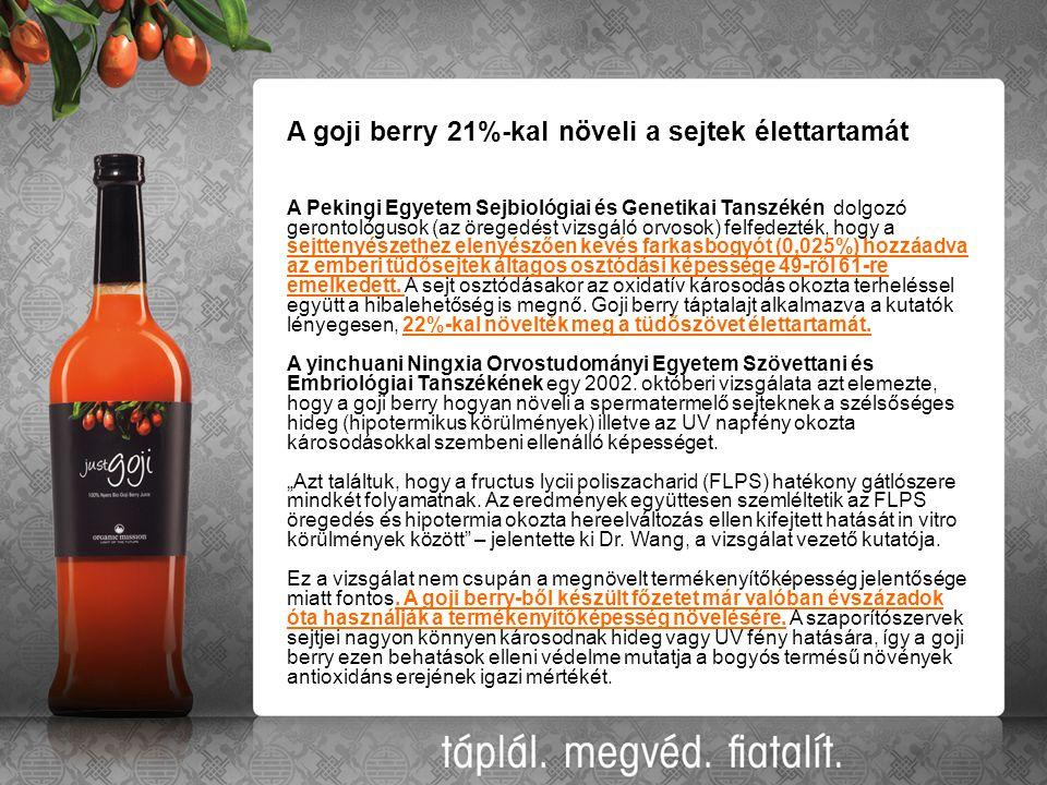 A goji berry 21%-kal növeli a sejtek élettartamát