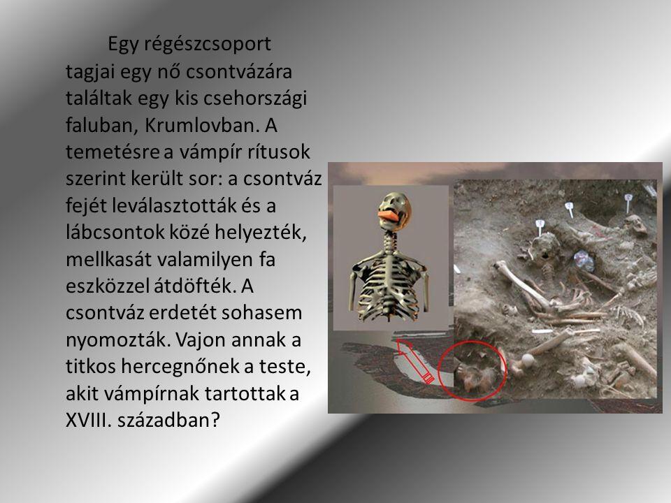 Egy régészcsoport tagjai egy nő csontvázára találtak egy kis csehországi faluban, Krumlovban.