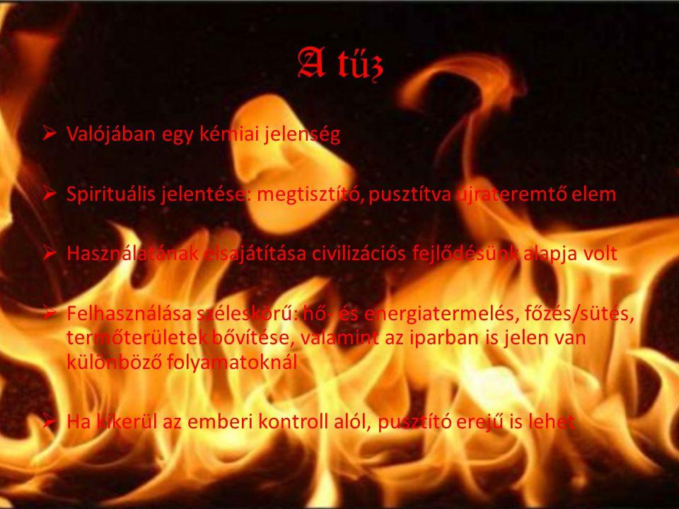 A tűz Valójában egy kémiai jelenség