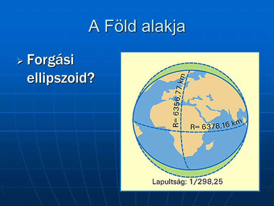 A Föld alakja Forgási ellipszoid