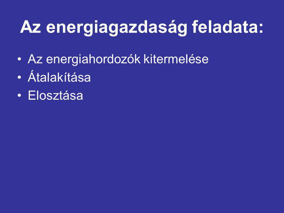 Az energiagazdaság feladata:
