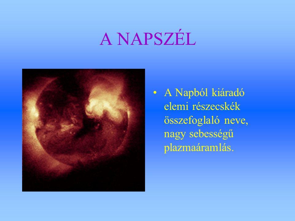 A NAPSZÉL A Napból kiáradó elemi részecskék összefoglaló neve, nagy sebességű plazmaáramlás.
