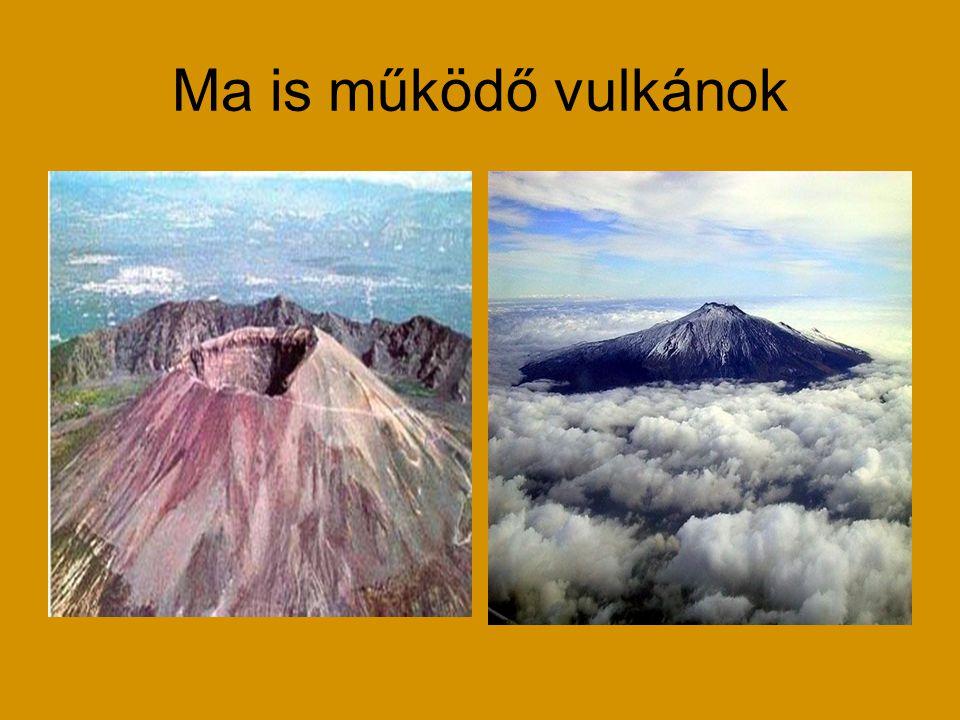 Ma is működő vulkánok