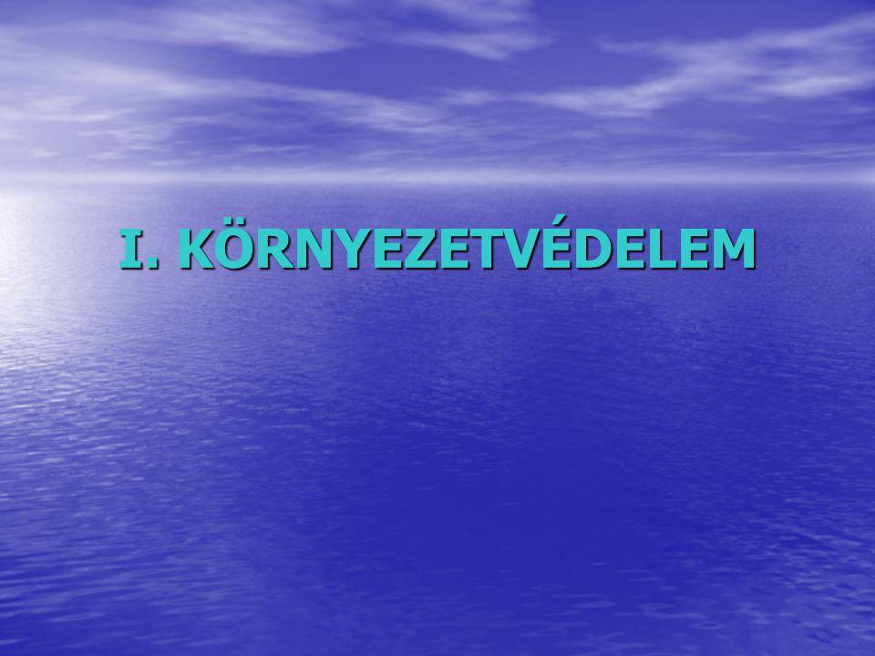 I. KÖRNYEZETVÉDELEM