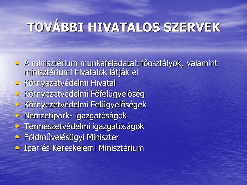 TOVÁBBI HIVATALOS SZERVEK