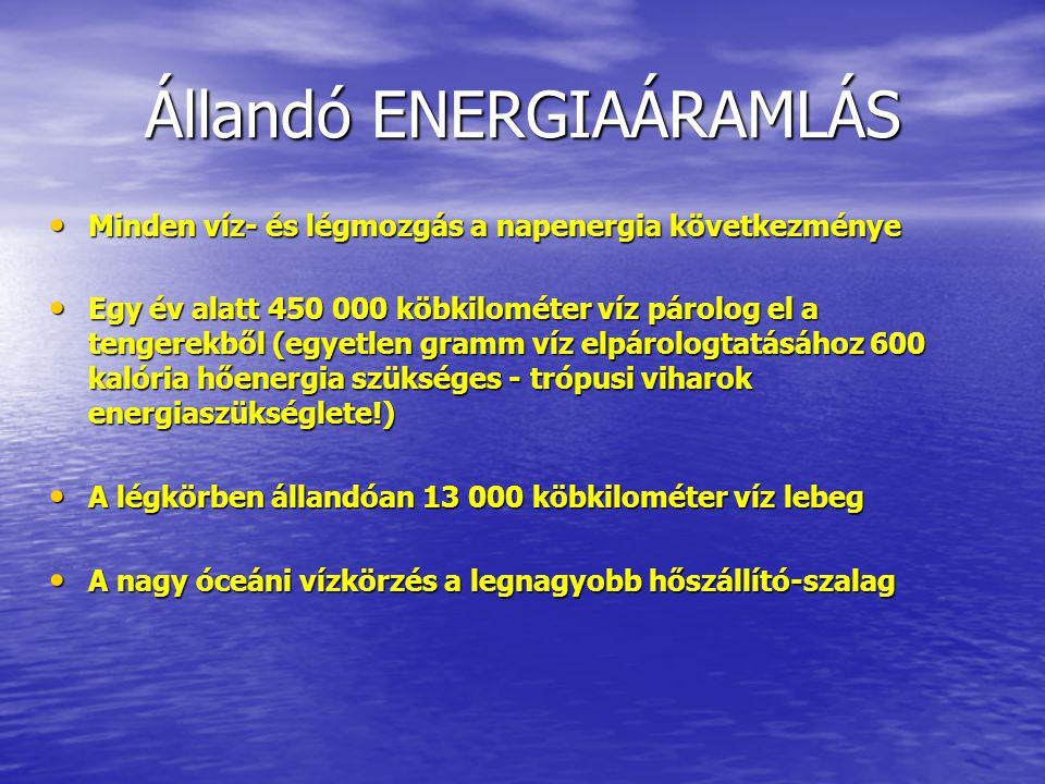 Állandó ENERGIAÁRAMLÁS