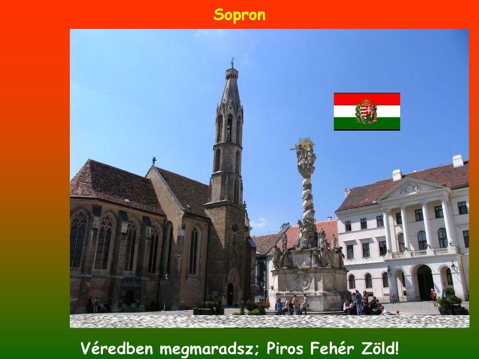 Sopron Véredben megmaradsz; Piros Fehér Zöld!