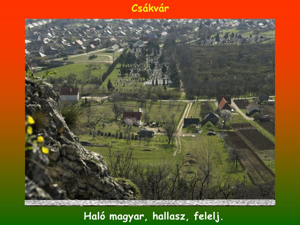 Csákvár Haló magyar, hallasz, felelj.