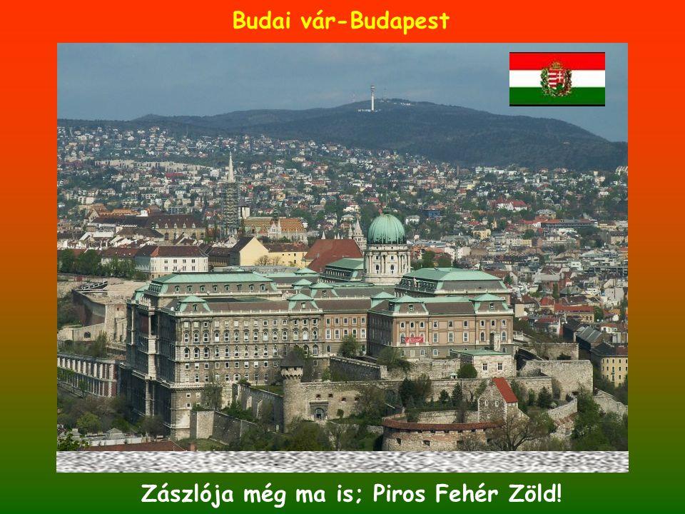 Budai vár-Budapest Zászlója még ma is; Piros Fehér Zöld!