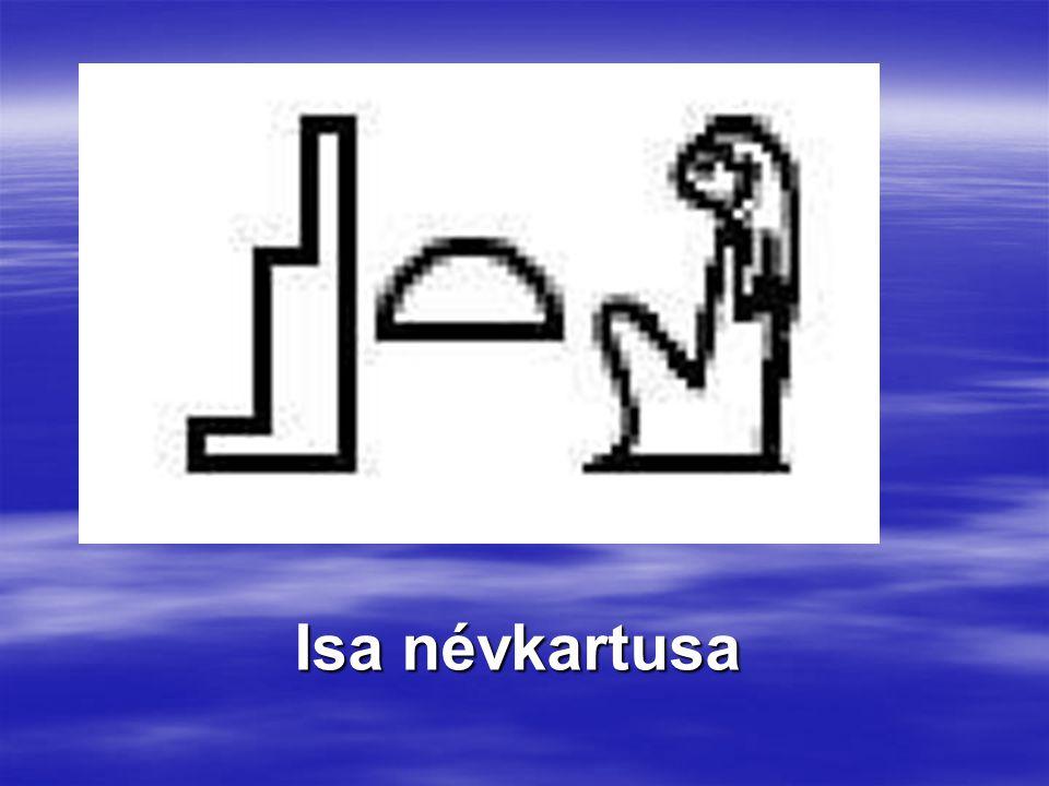 Isa névkartusa