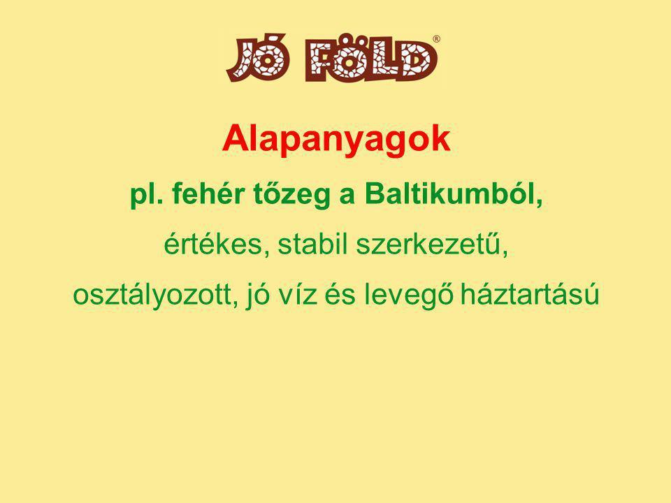 Alapanyagok pl.