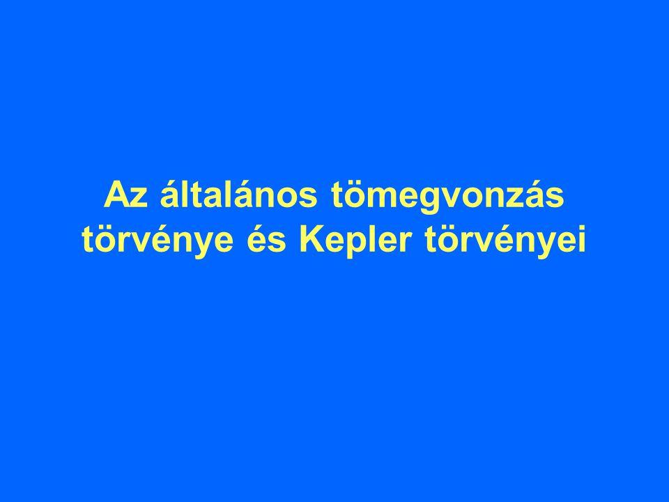 Az általános tömegvonzás törvénye és Kepler törvényei