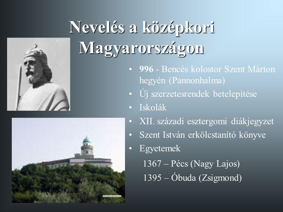 Nevelés a középkori Magyarországon