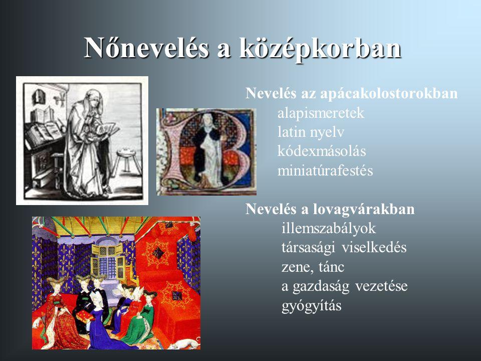 Nőnevelés a középkorban