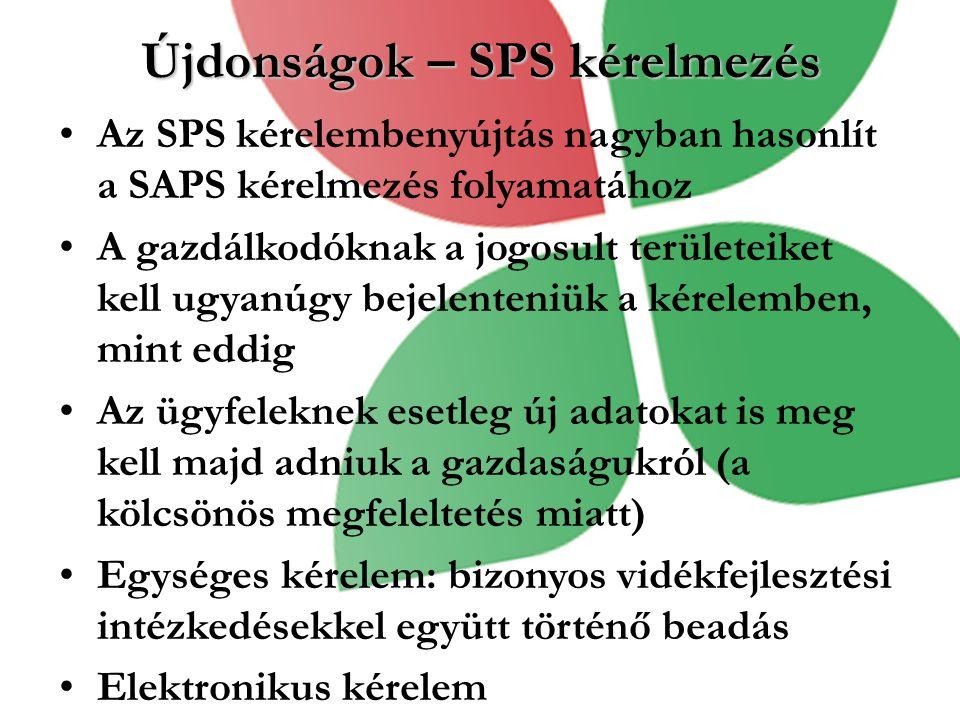Újdonságok – SPS kérelmezés