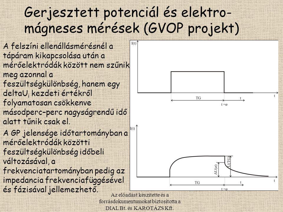 Gerjesztett potenciál és elektro-mágneses mérések (GVOP projekt)