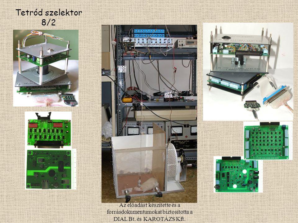 Tetród szelektor 8/2 Az előadást készítette és a forrásdokumentumokat biztosította a DIAL Bt. és KAROTÁZS Kft.
