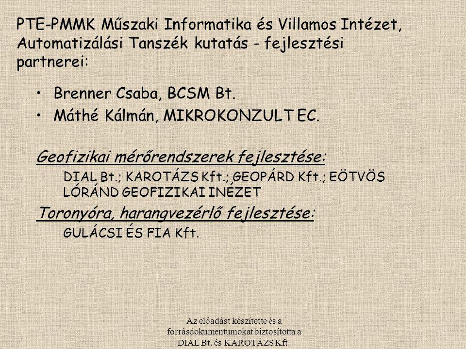 Máthé Kálmán, MIKROKONZULT EC. Geofizikai mérőrendszerek fejlesztése: