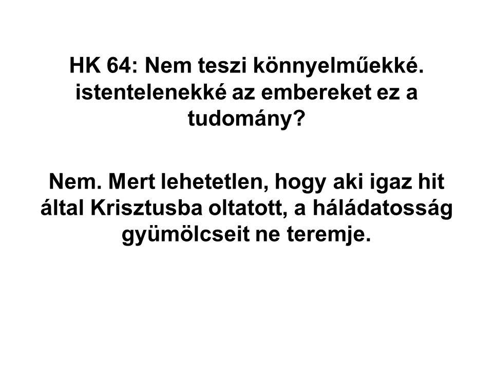 HK 64: Nem teszi könnyelműekké