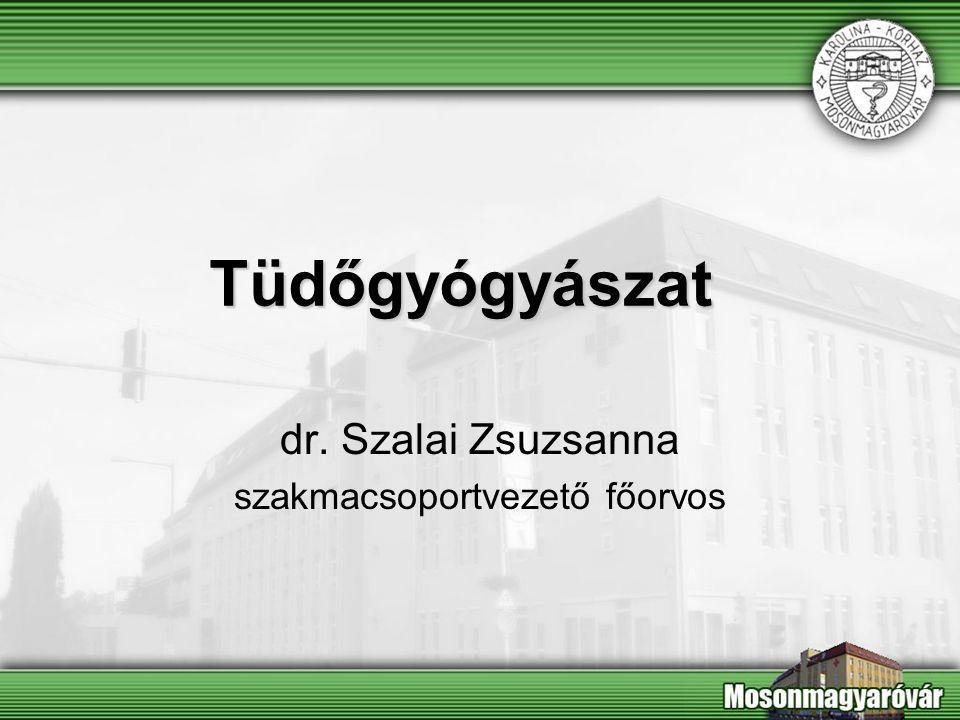 dr. Szalai Zsuzsanna szakmacsoportvezető főorvos