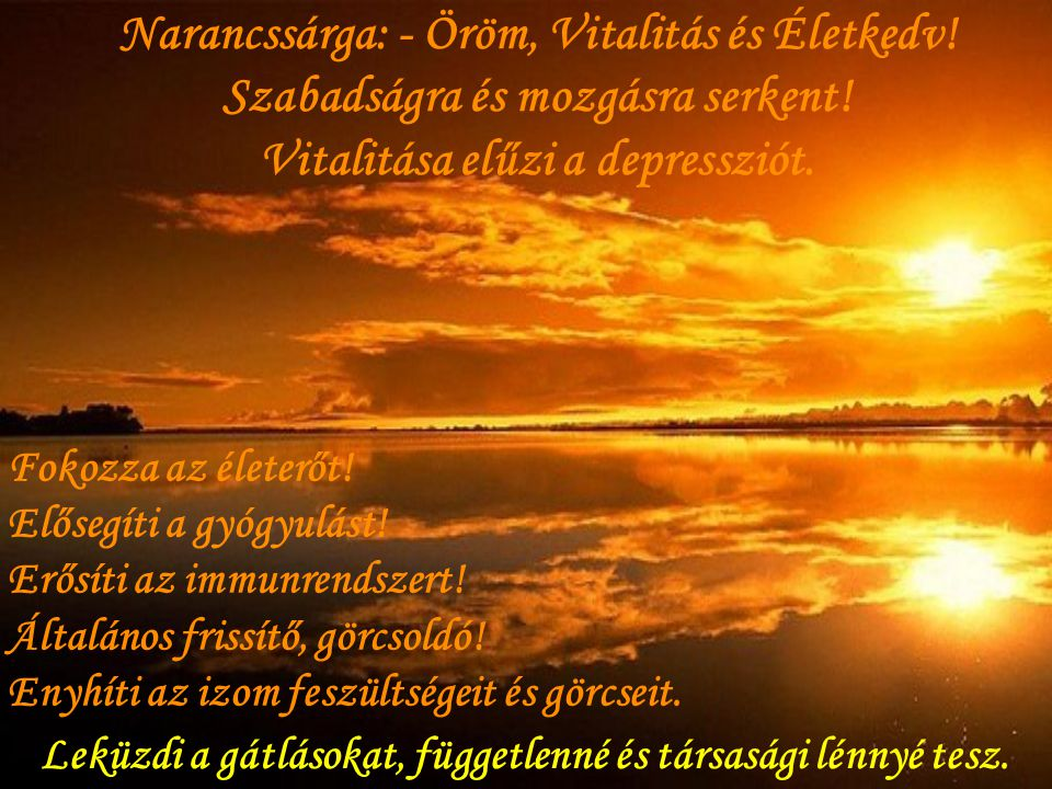 Narancssárga: - Öröm, Vitalitás és Életkedv!