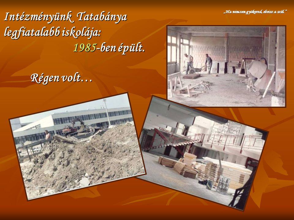 Intézményünk Tatabánya legfiatalabb iskolája: 1985-ben épült.