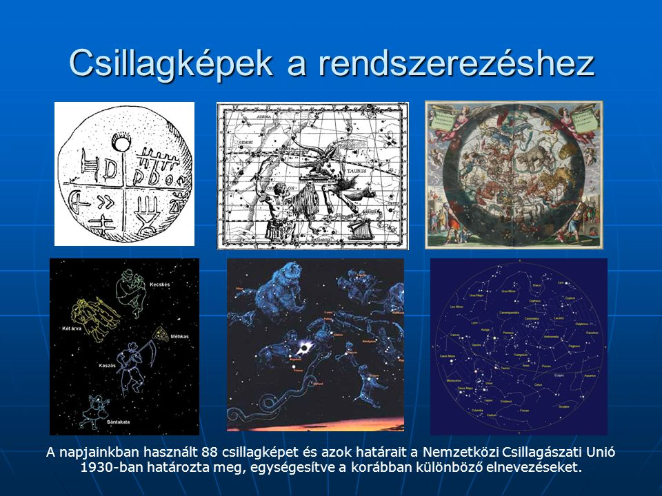 Csillagképek a rendszerezéshez