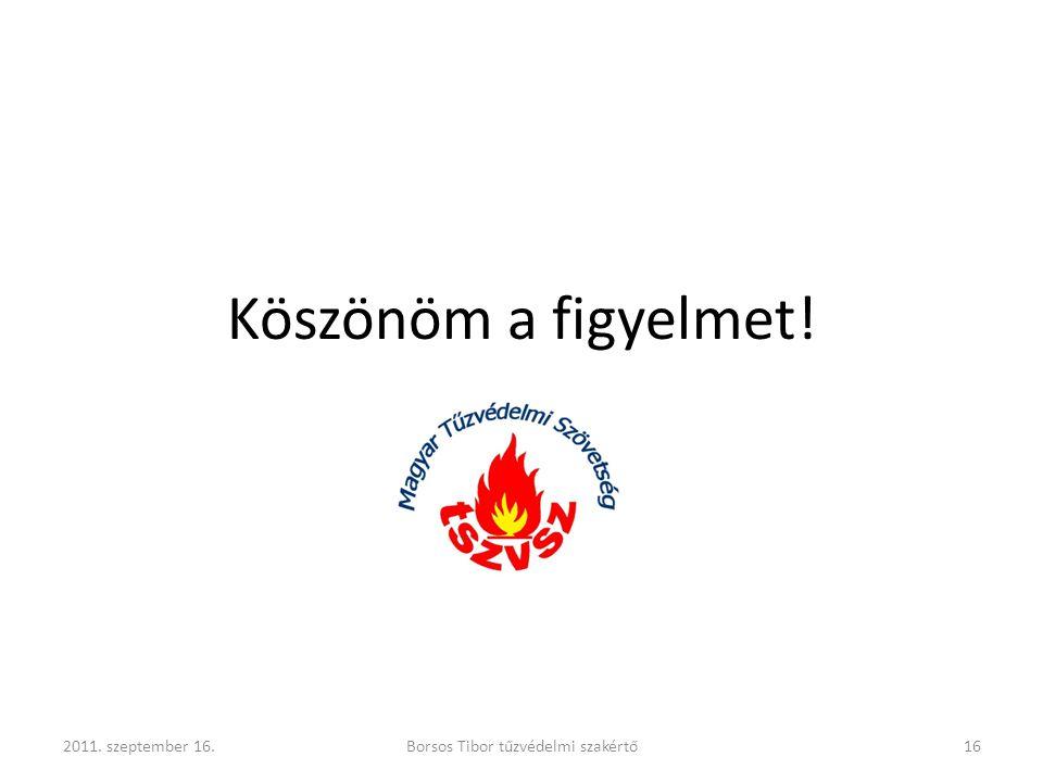 Borsos Tibor tűzvédelmi szakértő