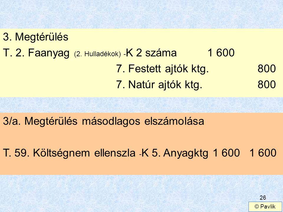 T. 2. Faanyag (2. Hulladékok) -K 2 száma 1 600