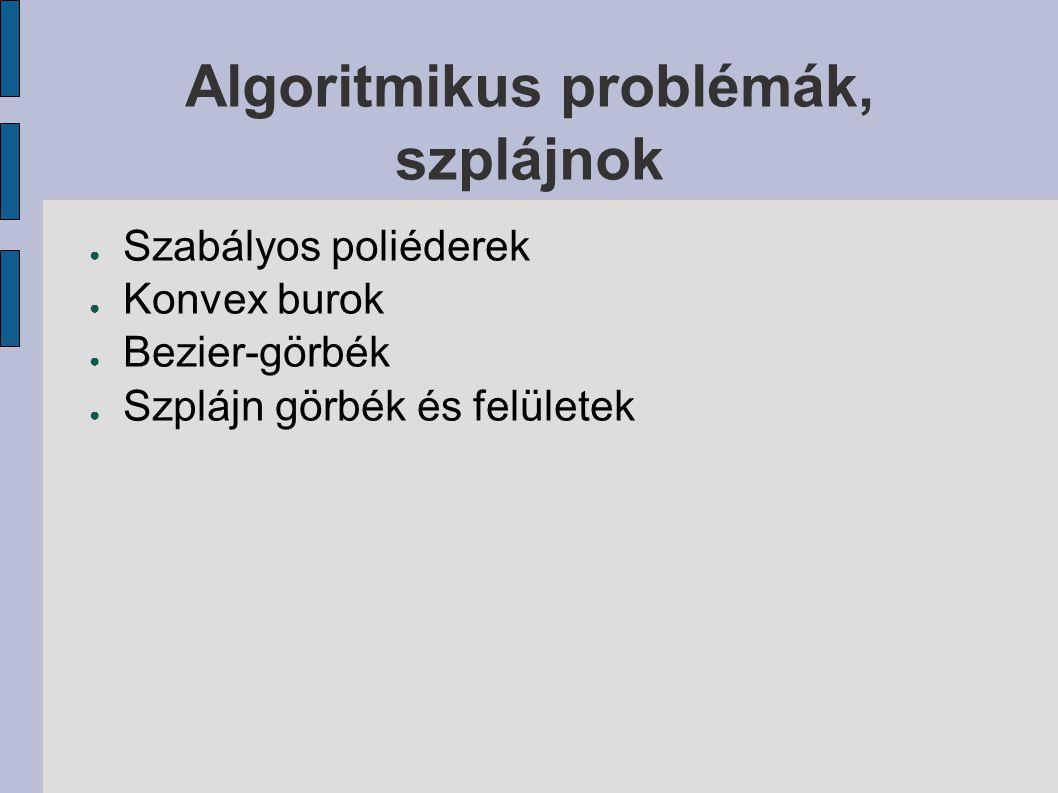 Algoritmikus problémák, szplájnok